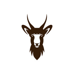 deer vector illustration, deer head  logo template