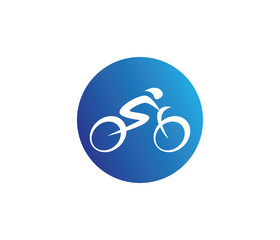 abstract bicycle icon or vector logo design