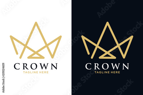 Geometric Vintage Creative Crown Abstract Logo Design Vector