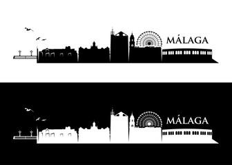 Malaga skyline - Spain