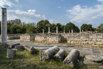 Ruins of the ancient roman settlement Abrittus, Bulgaria