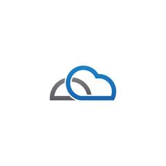 Cloud logo icon design template vector