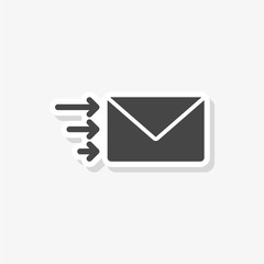 Letter sticker, Send email message, simple vector icon
