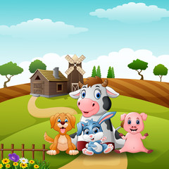 Little animals farm at the road