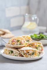 Crab salad in pita bread
