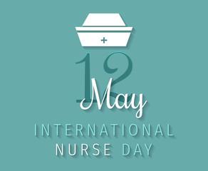 International Nurse Day vector image. 12 May. International Nurse Day background.