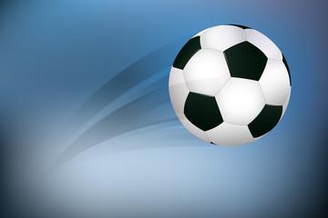 Fußball fliegt durch das Stadion