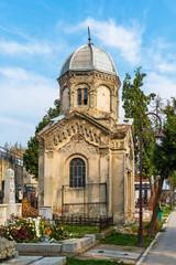 Belgrade, Serbia - April 07, 2018: An editorial stock photo of a Cemetery/Graveyard in Zemun Serbia.