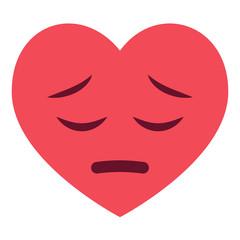Herz Emoji bedauernd