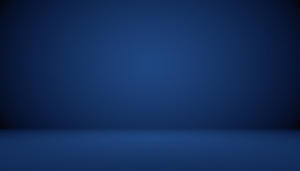 Blue gradient abstract background empty room with space for your text and picture