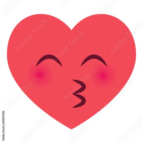 Herz Emoji Kussmund Stockfotos und lizenzfreie Vektoren