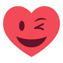 Herz Emoji zwinkernd