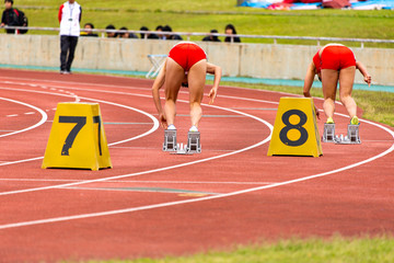 女子200メートル競走2