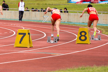 女子200メートル競走3