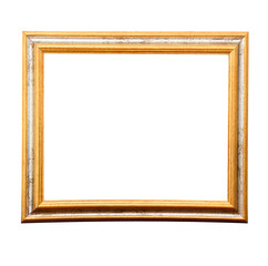 Antique gold vintage photo frames isolated on white background with copy space and  clipping path.