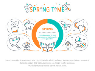 Website Banner and Landing Page of Spring Time.