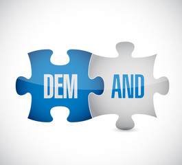 Demand puzzle. The concept of business, technology