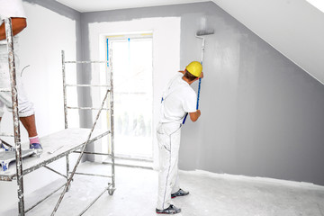 Room painter painting new home