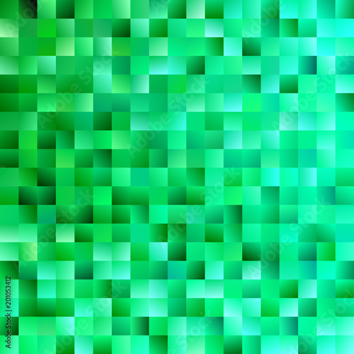 Green Abstract Square Background Trendy Vector Graphic