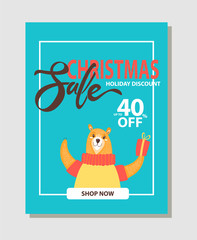 Shop Now Christmas Sale on Vector Illustration
