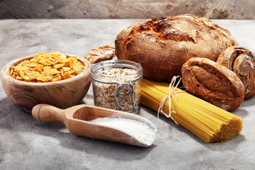 whole grain products with complex carbohydrates