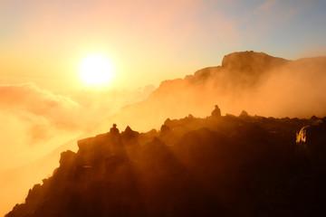 鳥海山山頂の夕景