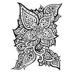 Paisley. Hand Drawn Boho ornament. Vector illustration