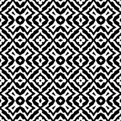 Seamless geometric pattern in a blck - white colors
