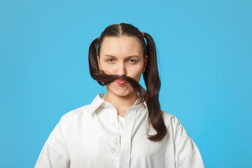 girl show mustache