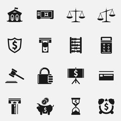Set of finance vector icons.