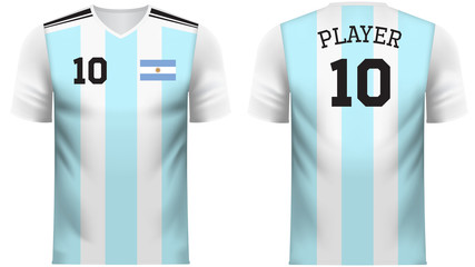 Argentina Fan sports tee shirt in generic country colors