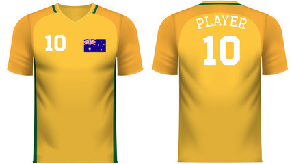 Australia Fan sports tee shirt in generic country colors