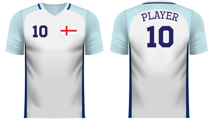 England fan sports tee shirt in generic country colors