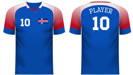 Iceland Fan sports tee shirt in generic country colors