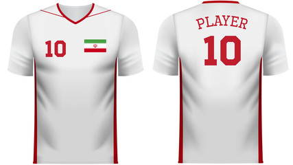 Iran Fan sports tee shirt in generic country colors