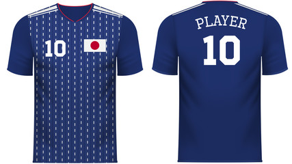 Japan Fan sports tee shirt in generic country colors