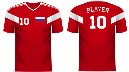 Russia Fan sports tee shirt in generic country colors