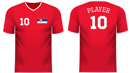 Serbia Fan sports tee shirt in generic country colors