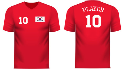 South Korea Fan sports tee shirt in generic country colors