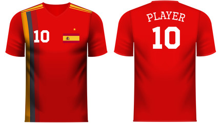 Spain Fan sports tee shirt in generic country colors