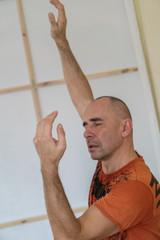 yong dancer - man improvise. contemporary dance performing