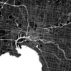 Area map of Melbourne, Australia