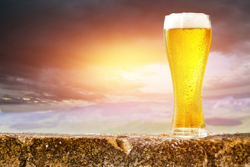 Summer beer and free space for your decoration