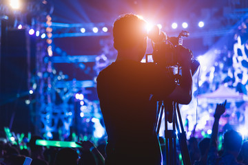 Cameraman shooting video production camera videographer
