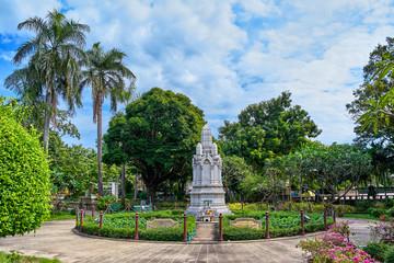 Royal monument in Suan Saranrom Park, Bangkok, Thailand