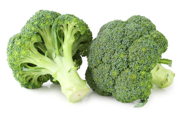 Fresh Broccoli isolated on white background, including clipping path without shade. Germany