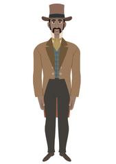Man in Victorian dressing