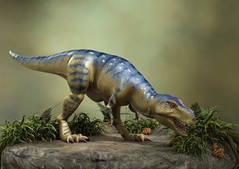 3D Rendering Dinosaur Tyrannosaurus