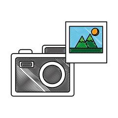 photographic camera picture photo media vector illustration