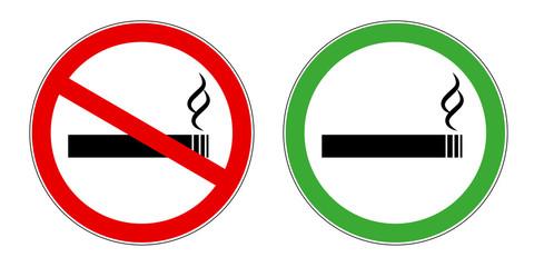 nichtraucherbereich und raucherbereich